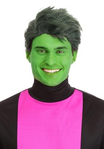 Men's Green Shapeshifting Superhero ウィッグ クリスマス ハロウィン コスプレ 衣装 仮装 小道具 おもしろい イベント パーティ ハロウィーン 学芸会