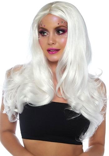 Women's Long Wavy ホワイト ウィッグ ハロウィン コスプレ 衣装 仮装 小道具 おもしろい イベント パーティ ハロウィーン 学芸会