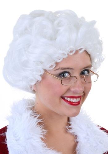 デラックス Womens Mrs. Claus ウィッグ クリスマス ハロウィン コスプレ 衣装 仮装 小道具 おもしろい イベント パーティ ハロウィーン 学芸会