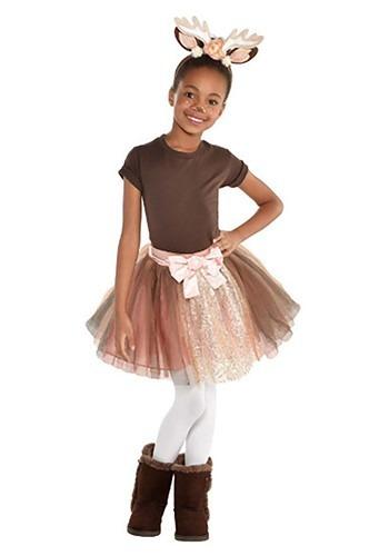 Girls Fawn アクセサリー Kit ハロウィン コスプレ 衣装 仮装 小道具 おもしろい イベント パーティ ハロウィーン 学芸会