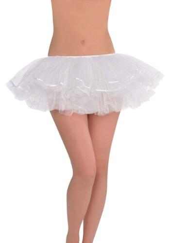 ホワイト Shimmer Womens Tutu クリスマス ハロウィン コスプレ 衣装 仮装 小道具 おもしろい イベント パーティ ハロウィーン 学芸会