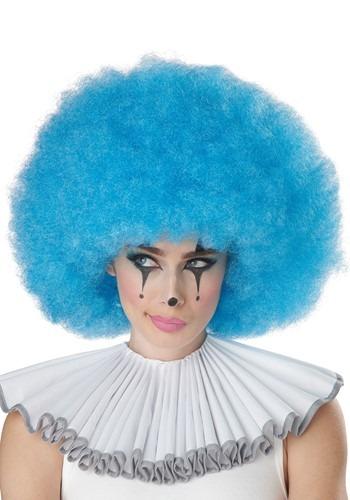 Blue Jumbo Afro ピエロ ウィッグ クリスマス ハロウィン コスプレ 衣装 仮装 小道具 おもしろい イベント パーティ ハロウィーン 学芸会