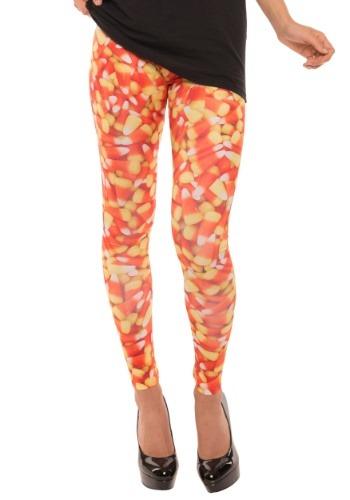 Women's Candy Corn Leggings ハロウィン コスプレ 衣装 仮装 小道具 おもしろい イベント パーティ ハロウィーン 学芸会