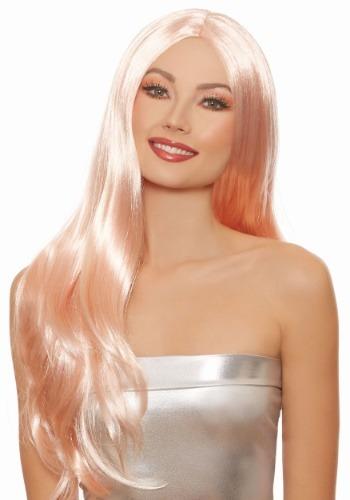 Long Straight Women's Rose Gold ウィッグ ハロウィン コスプレ 衣装 仮装 小道具 おもしろい イベント パーティ ハロウィーン 学芸会