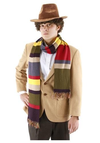 Fourth Doctor Who Short Scarf ハロウィン コスプレ 衣装 仮装 小道具 おもしろい イベント パーティ ハロウィーン 学芸会