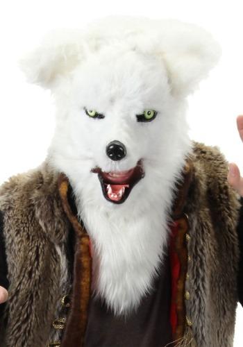 ホワイト Fox Mouth Mover マスク ハロウィン コスプレ 衣装 仮装 小道具 おもしろい イベント パーティ ハロウィーン 学芸会