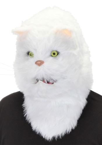 Mouth Mover ホワイト Cat マスク ハロウィン コスプレ 衣装 仮装 小道具 おもしろい イベント パーティ ハロウィーン 学芸会
