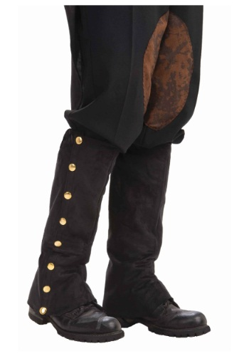Steampunk ブラック Suede Spats クリスマス ハロウィン コスプレ 衣装 仮装 小道具 おもしろい イベント パーティ ハロウィーン 学芸会