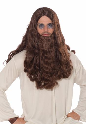 Guru-vy Long Hair ウィッグ and Beard for Men ハロウィン コスプレ 衣装 仮装 小道具 おもしろい イベント パーティ ハロウィーン 学芸会
