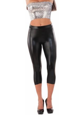 Women's ブラック Metallic Sheen Leggings クリスマス ハロウィン コスプレ 衣装 仮装 小道具 おもしろい イベント パーティ ハロウィーン 学芸会