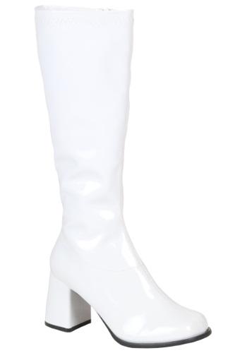 Girls ホワイト Gogo ブーツ ハロウィン コスプレ 衣装 仮装 小道具 おもしろい イベント パーティ ハロウィーン 学芸会