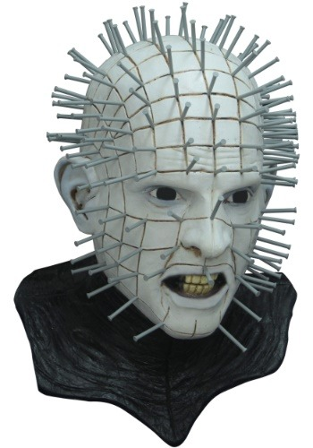 Hellraiser III Pinhead デラックス マスク ハロウィン コスプレ 衣装 仮装 小道具 おもしろい イベント パーティ ハロウィーン 学芸会