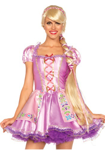 Women's Rapunzel ウィッグ ハロウィン コスプレ 衣装 仮装 小道具 おもしろい イベント パーティ ハロウィーン 学芸会