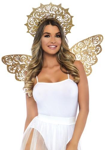 2 Piece Golden Angel Kit ハロウィン コスプレ 衣装 仮装 小道具 おもしろい イベント パーティ ハロウィーン 学芸会