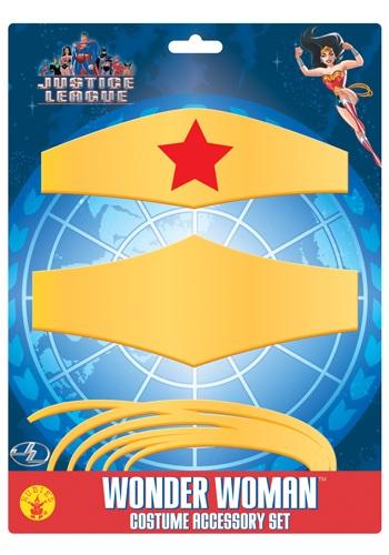 Wonder Woman アクセサリー Kit クリスマス ハロウィン コスプレ 衣装 仮装 小道具 おもしろい イベント パーティ ハロウィーン 学芸会