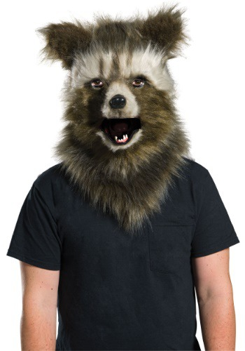 Rocket Raccoon Movable Jaw Faux Fur マスク ハロウィン コスプレ 衣装 仮装 小道具 おもしろい イベント パーティ ハロウィーン 学芸会