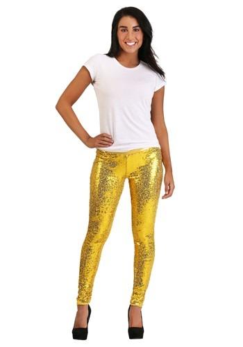 Tipsy Elves Gold Sequin Women's Leggings ハロウィン コスプレ 衣装 仮装 小道具 おもしろい イベント パーティ ハロウィーン 学芸会