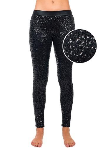 Women's Tipsy Elves ブラック Sequin Leggings クリスマス ハロウィン コスプレ 衣装 仮装 小道具 おもしろい イベント パーティ ハロウィーン 学芸会