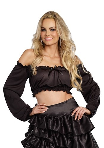 Women's ブラック Peasant Top クリスマス ハロウィン コスプレ 衣装 仮装 小道具 おもしろい イベント パーティ ハロウィーン 学芸会
