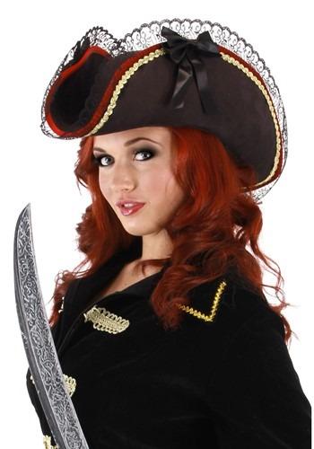 Lady Buccaneer ブラック 帽子 ハット ハロウィン コスプレ 衣装 仮装 小道具 おもしろい イベント パーティ ハロウィーン 学芸会