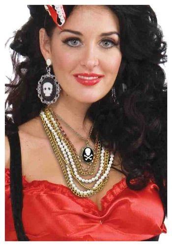 海賊 パイレーツ Multi Strand Necklace クリスマス ハロウィン コスプレ 衣装 仮装 小道具 おもしろい イベント パーティ ハロウィーン 学芸会