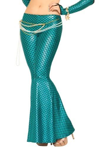Women's Blue マーメイド 人魚 Leggings ハロウィン コスプレ 衣装 仮装 小道具 おもしろい イベント パーティ ハロウィーン 学芸会