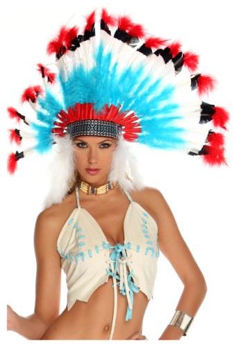 Colorful Native American Headdress ハロウィン コスプレ 衣装 仮装 小道具 おもしろい イベント パーティ ハロウィーン 学芸会