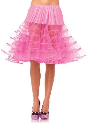 Women's Knee Length Pink Petticoat ハロウィン コスプレ 衣装 仮装 小道具 おもしろい イベント パーティ ハロウィーン 学芸会