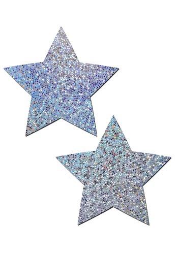 Pastease Silver Star Pasties クリスマス ハロウィン コスプレ 衣装 仮装 小道具 おもしろい イベント パーティ ハロウィーン 学芸会