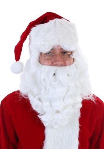 デラックス Santa Claus ウィッグ and Beard Set ハロウィン コスプレ 衣装 仮装 小道具 おもしろい イベント パーティ ハロウィーン 学芸会
