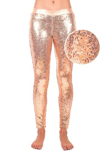 Tipsy Elves Rose Gold Sequin Leggings for Women ハロウィン コスプレ 衣装 仮装 小道具 おもしろい イベント パーティ ハロウィーン 学芸会