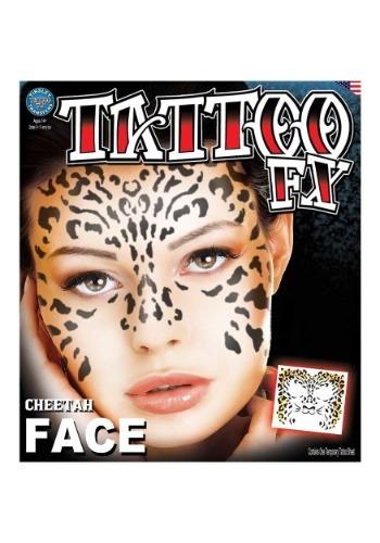 Cheetah Temporary Tattoo クリスマス ハロウィン コスプレ 衣装 仮装 小道具 おもしろい イベント パーティ ハロウィーン 学芸会