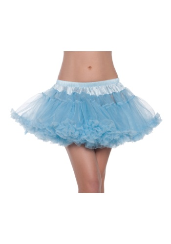 "12\"" Sky Blue 2-Layer Petticoat クリスマス ハロウィン コスプレ 衣装 仮装 小道具 おもしろい イベント パーティ ハロウィーン 学芸会"