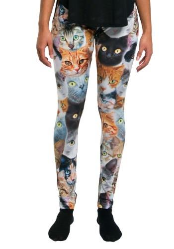Women's Cat Leggings クリスマス ハロウィン コスプレ 衣装 仮装 小道具 おもしろい イベント パーティ ハロウィーン 学芸会
