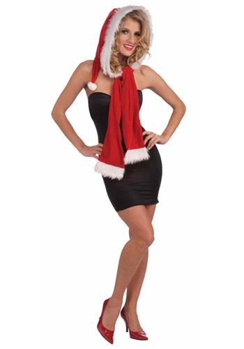 Christmas Hood with Scarf クリスマス ハロウィン コスプレ 衣装 仮装 小道具 おもしろい イベント パーティ ハロウィーン 学芸会