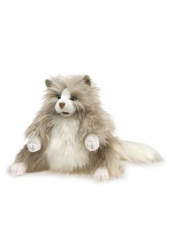 """Folkmanis Fluffy Cat 12\"""" Puppet ハロウィン コスプレ 衣装 仮装 小道具 おもしろい イベント パーティ ハロウィーン 学芸会"""