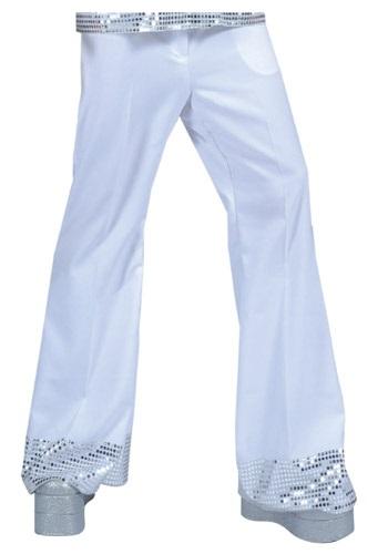 少年 少女 ホワイト Sequin Cuff ディスコ Pants クリスマス ハロウィン コスプレ 衣装 仮装 小道具 おもしろい イベント パーティ ハロウィーン 学芸会