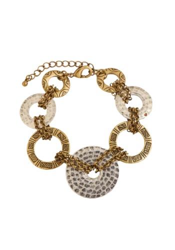 Silver and Gold Loop Bracelet クリスマス ハロウィン コスプレ 衣装 仮装 小道具 おもしろい イベント パーティ ハロウィーン 学芸会