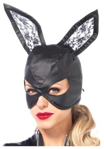 Faux Leather Bunny マスク クリスマス ハロウィン コスプレ 衣装 仮装 小道具 おもしろい イベント パーティ ハロウィーン 学芸会