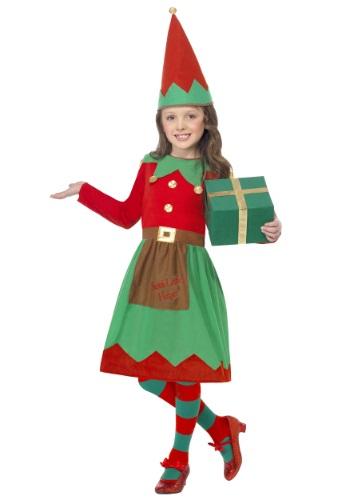 【イーグルス感謝祭 全品P5倍】Girls Santa's Little Helper コスチューム ハロウィン 子ども コスプレ 衣装 仮装 こども イベント 子ども パーティ ハロウィーン 学芸会