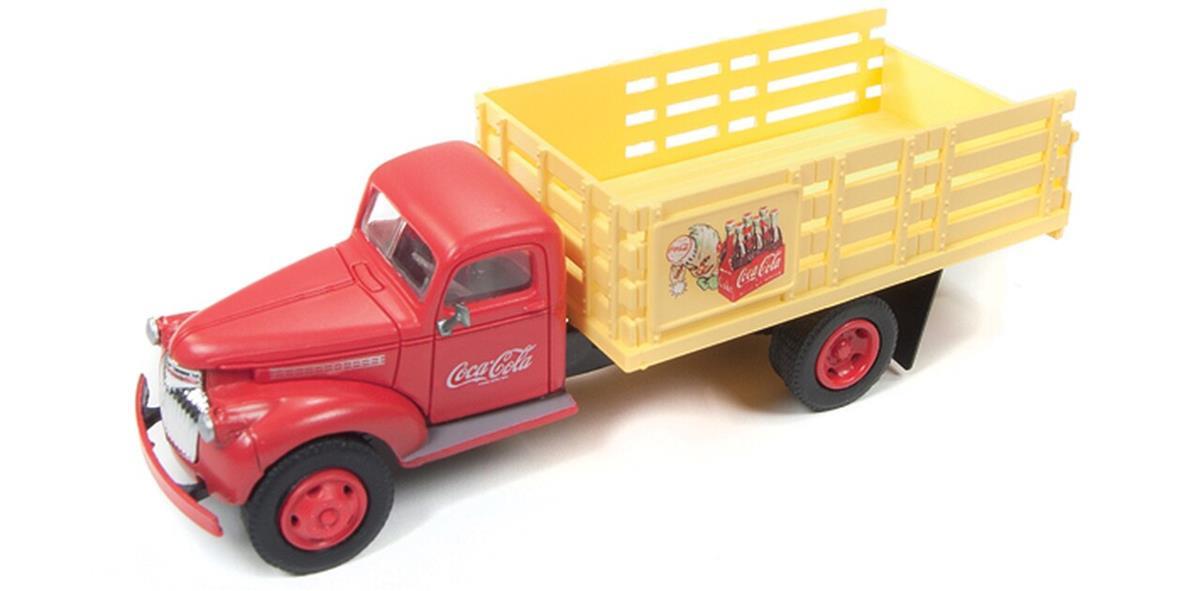 Classic Metal Works クラシックメタルワークス 1946 Coca-Cola Chevy シボレー Stake Bed Truck 1/87 Scale スケール Diecast Model ダイキャスト ミニカー おもちゃ 玩具 コレクショ...