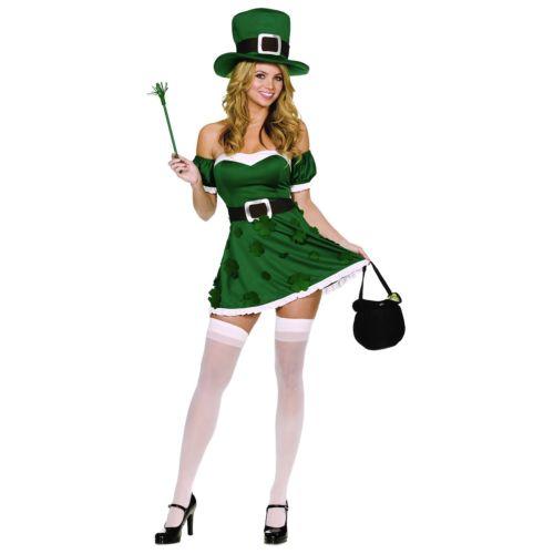 Leprechaunレディス 女性用 セクシー Irish ガール 大人用 St Patrick's Day ハロウィン コスチューム コスプレ 衣装 変装 仮装