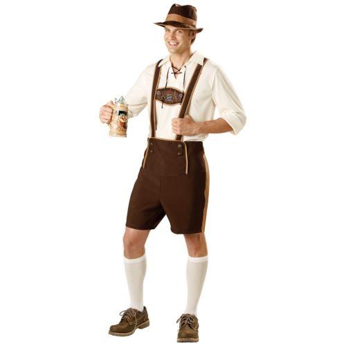 【ポイント最大29倍●お買い物マラソン限定!エントリー】Lederhosen 大人用 German Beer Bavarian Guy Oktoberfest ハロウィン コスチューム コスプレ 衣装 変装 仮装