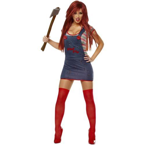 Chuckyレディス 女性用 大人用 レディス 女性用 ガール セクシー 怖い クリスマス ハロウィン コスチューム コスプレ 衣装 変装 仮装