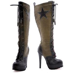High Heel Boots レディス 女性用 Army ガールシューズ 靴 ミリタリー 軍隊 Soldier ハロウィン コスチューム コスプレ 衣装 変装 仮装