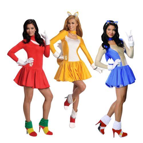 Sonic the Hedgehog ソニックザヘッジホッグ レディス 女性用 セクシー 大人用 ハロウィン コスチューム コスプレ 衣装 変装 仮装