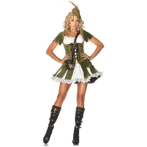 Robin Hoodレディス 女性用 セクシー 大人用 Medieval Renaissance クリスマス ハロウィン コスチューム コスプレ 衣装 変装 仮装