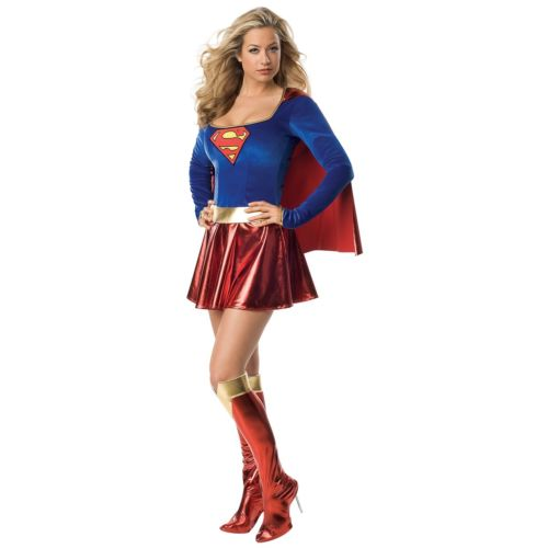 スーパーガール 大人用 セクシー Superwoman レディス 女性用 スーパーヒーロー ハロウィン コスチューム コスプレ 衣装 変装 仮装
