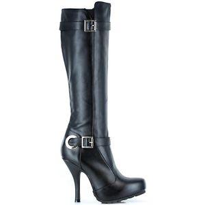 【全品P5倍】ブラック Knee High Boots レディス 女性用 セクシー 大人用 High Heel シューズ 靴 クリスマス ハロウィン コスチューム コスプレ 衣装 変装 仮装