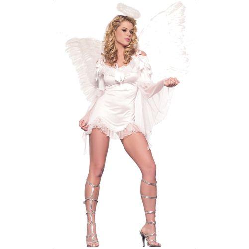 Sexy Angel Costume Adult White Halloween Fancy Dress 4日~ 全品P5倍 全品送料無料 クーポン有 セクシー 仮装 ハロウィン エンジェル 変装 大人用 クリスマス コスプレ コスチューム 超特価SALE開催 天使 ホワイト 衣装